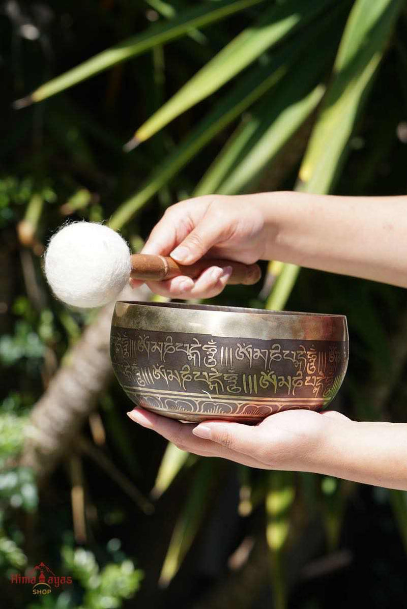 Singing bowl for sound healing and meditation from Nepal. All our product are hand pick to ensure the quality. Tibetan bell for chakra healing and meditation.