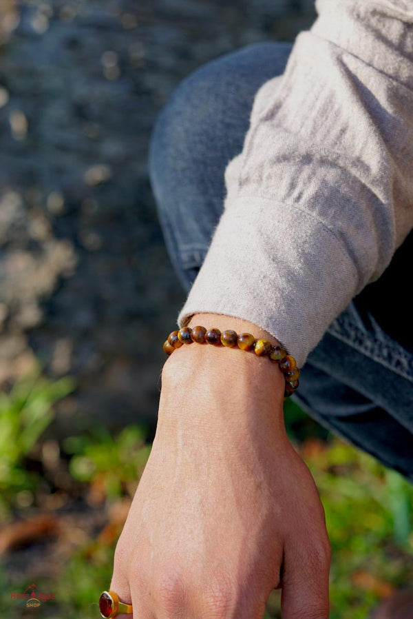 Real Tiger eye Unisex Bracelet for sale