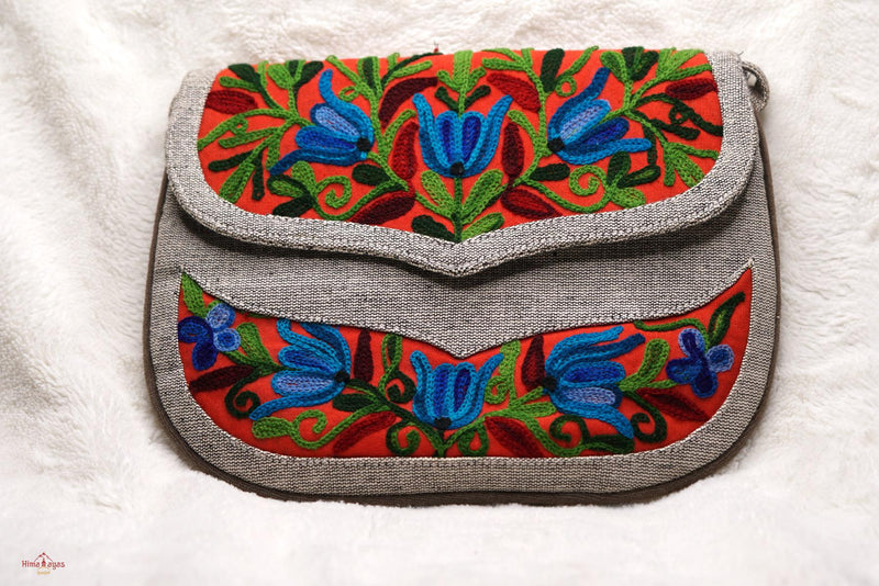 The sustainable environment friendly bags for every day uses, crafted with exquisite floral hand embroidery.