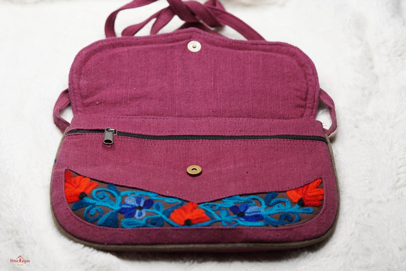 Unique style handmade cotton bag with hand embroidery, easy to carry and stylist design