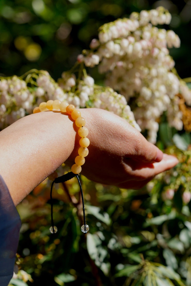 Yellow Quartz Bracelet | Natural Stone Beads