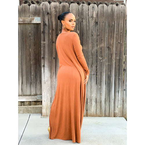 Chill Day Rust Dress
