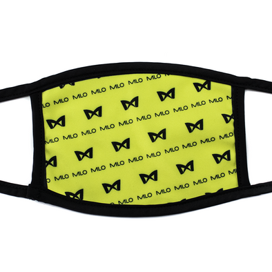 MLO™ Double-Layered Breathable Face Mask - Yellow MLO™ Pattern