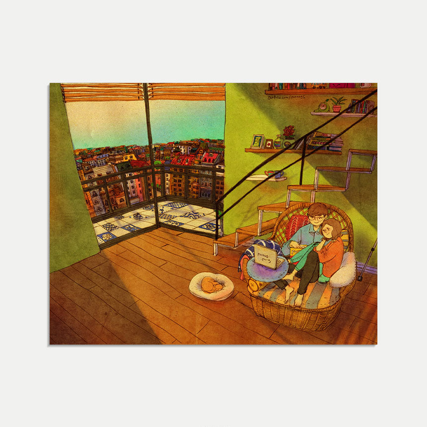 Mini Art Print / Postcard (No. 022), Puuung Collection