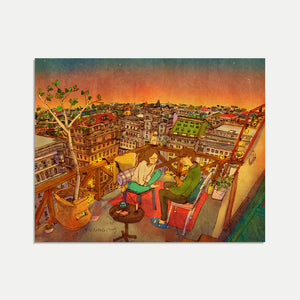 Mini Art Print / Postcard (No. 035), Puuung Collection