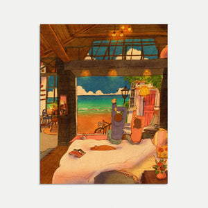 Mini Art Print / Postcard (No. 055), Puuung Collection