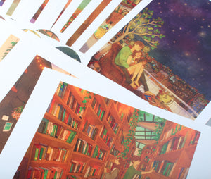 Set of 30 Art Prints, Puuung Collection