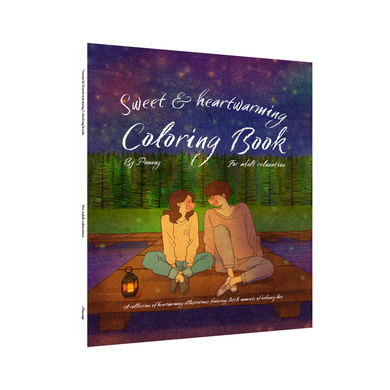 Sweet & heartwarming coloring book for adult relaxation