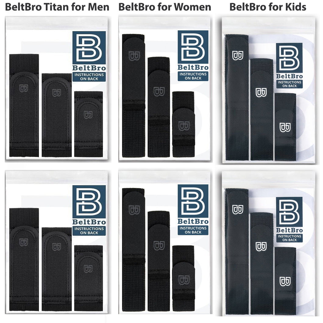 6-Pack Gift Set (2 BeltBro Titan, 2 BeltBro for Women,  2 BeltBro for Kids)