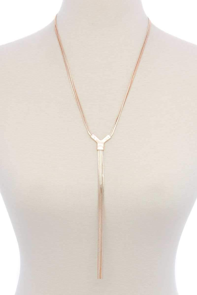 Snake Chain Y-shape Long Necklace