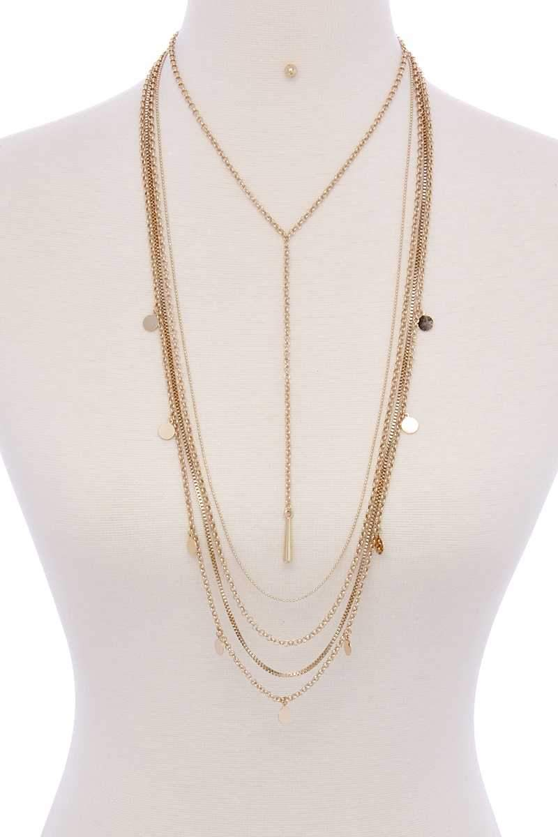 Metal Multi Chain Necklace