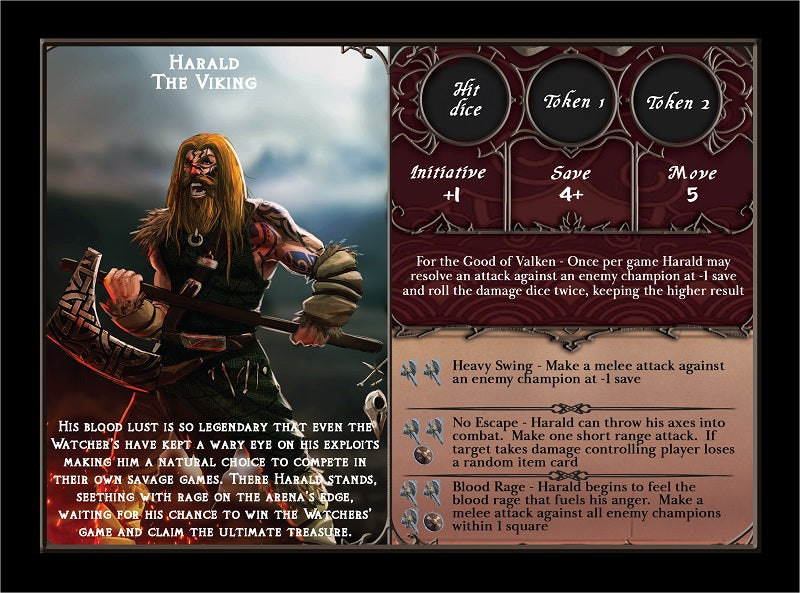 Harald Team Mode Champion Card