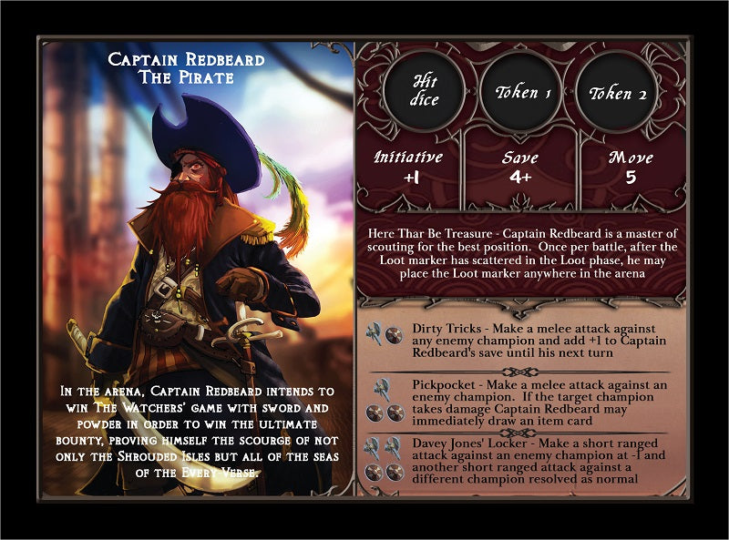 Captain Redbeard Team Mode Card