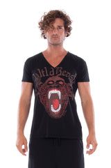Wild Beast - Vneck - Tshirt - Colour Black and Short Pants - Colour Black 2