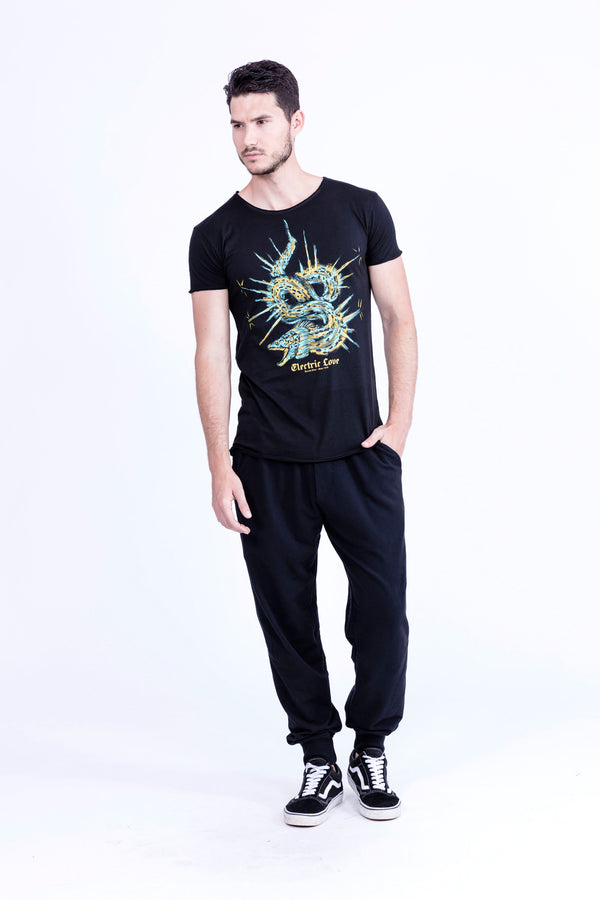 Electric Love - Round Neck - Cut Off - Tshirt - Colour Black - 1