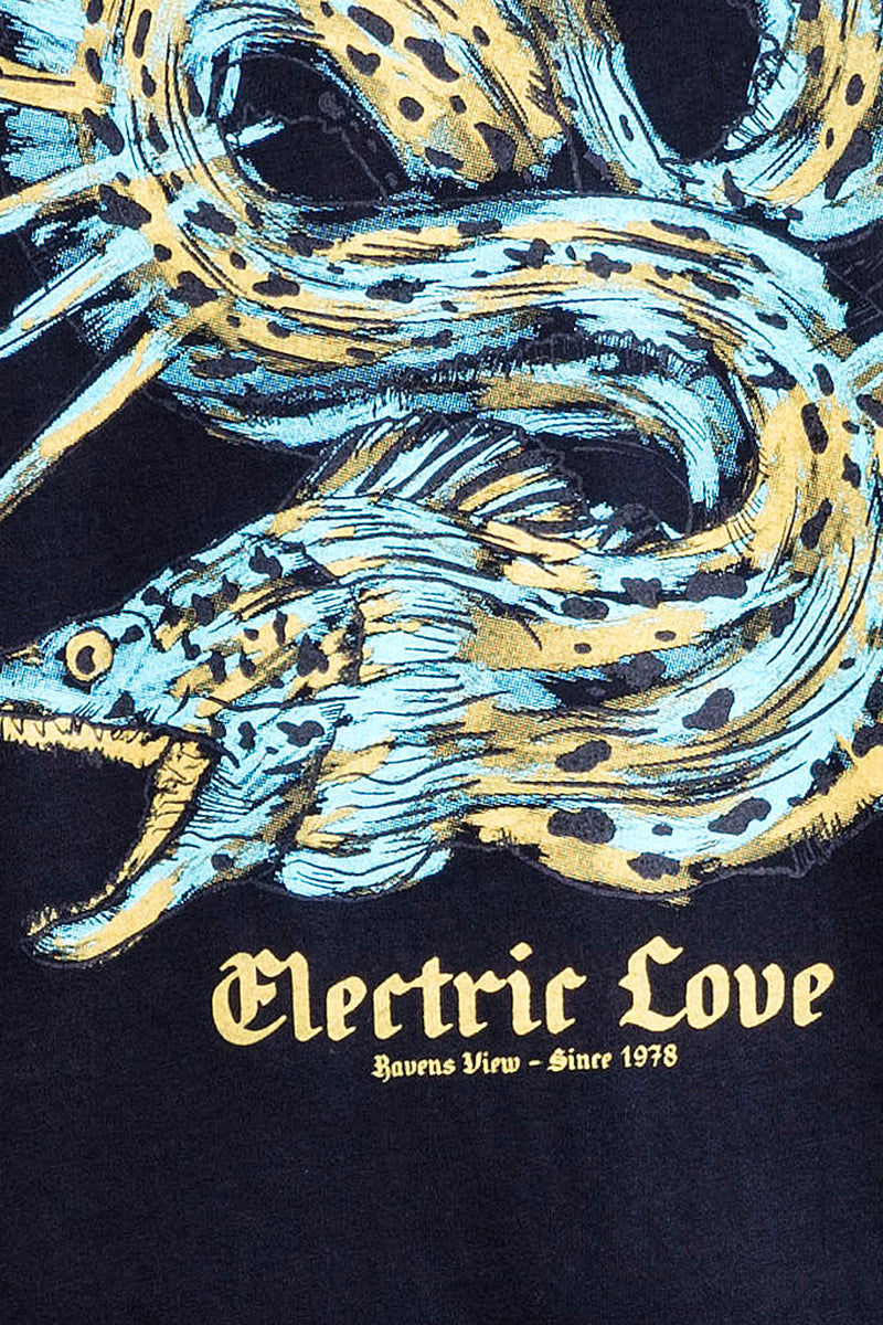 Electric Love - Round Neck - Cut Off - Tshirt - Colour Black - 3