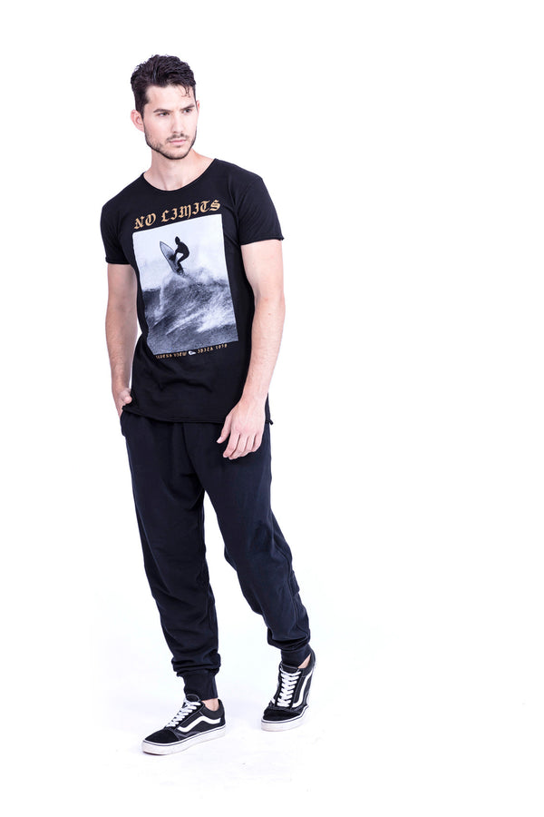 Kioto Pants - Trousers and Tshirt - redondo - wild surf no limits - Colour Black