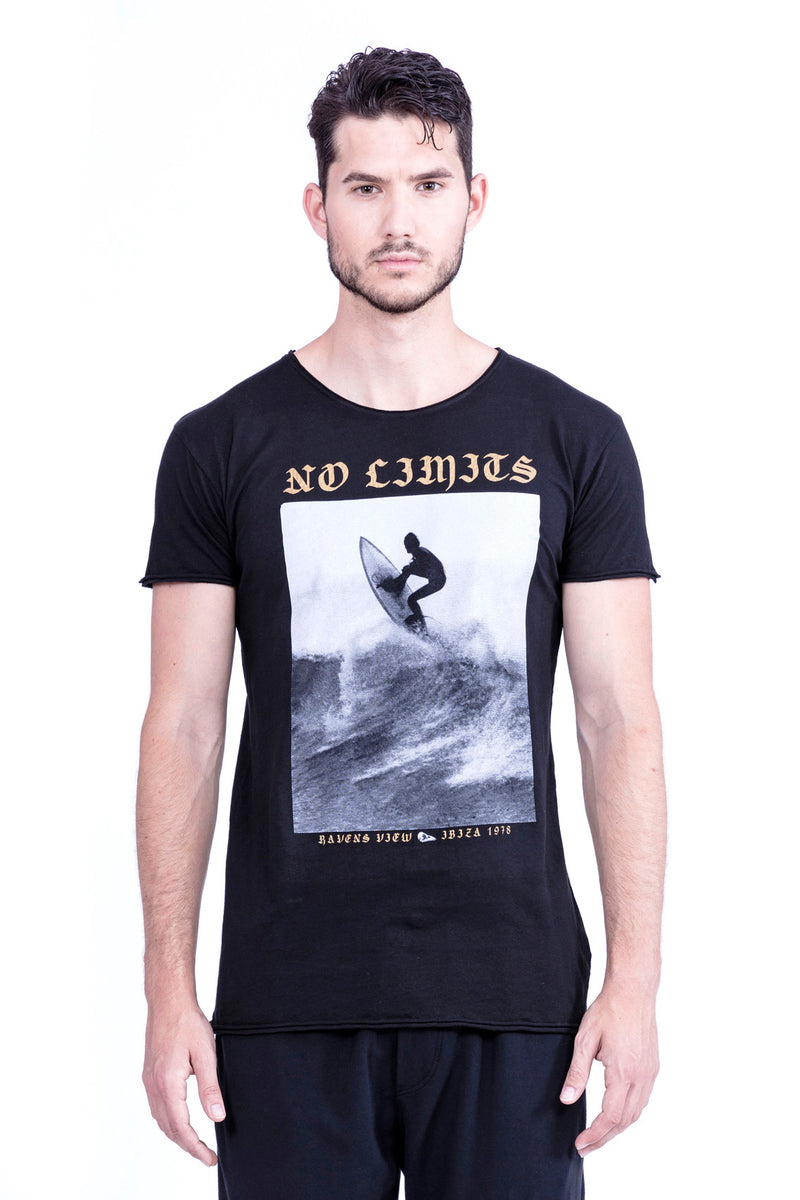 No Limits - Round Neck - Cut Off - Tshirt - Colour Black - 2