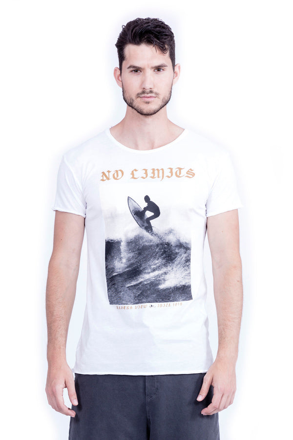 No Limits - Round Neck - Cut Off - Tshirt - Colour White - 2