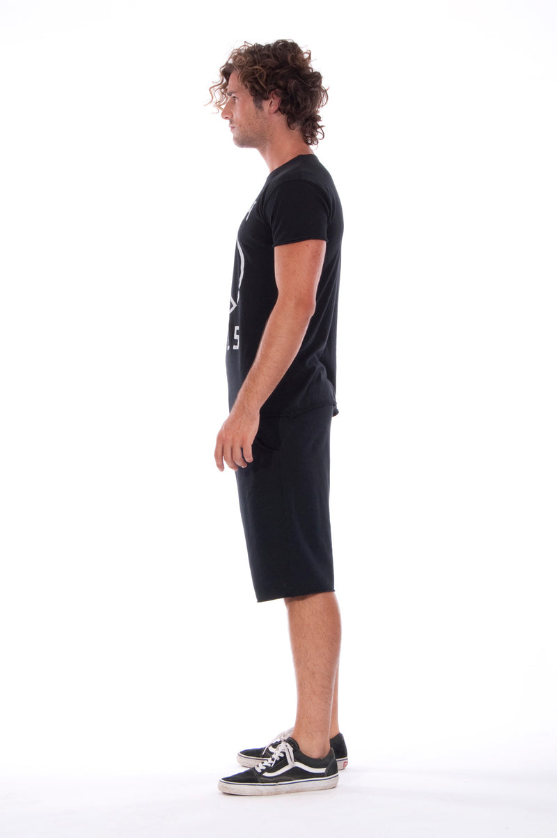 Karma Rules - Round Neck - Cut Off - Tshirt - Colour Black and Short Pants - Colour Black 3