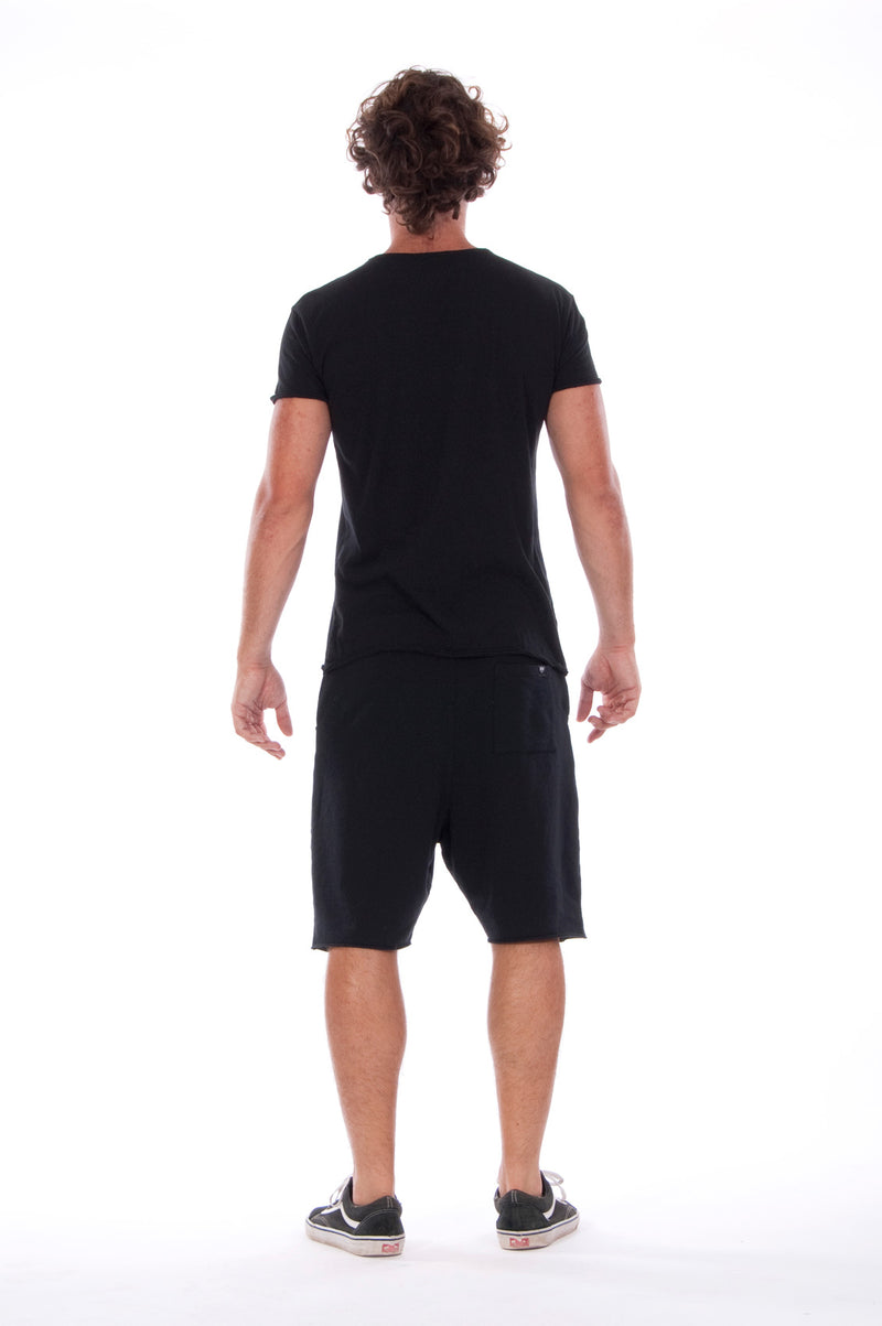 Karma Rules - Round Neck - Cut Off - Tshirt - Colour Black and Short Pants - Colour Black 4