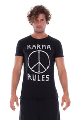Karma Rules - Round Neck - Cut Off - Tshirt - Colour Black and Short Pants - Colour Black 2