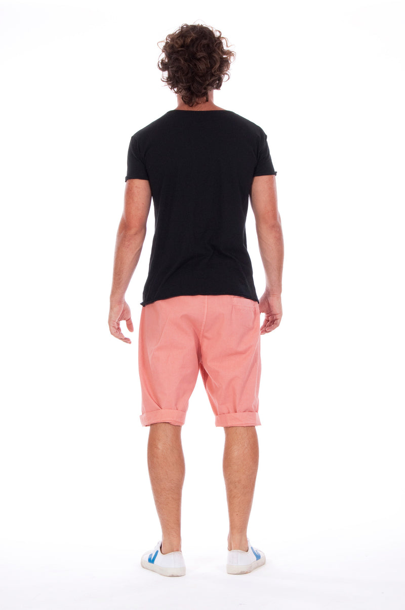 Live your life - Round Neck - Cut Off - Tshirt - Colour Black and Raven Shorts - Colour Clay 4