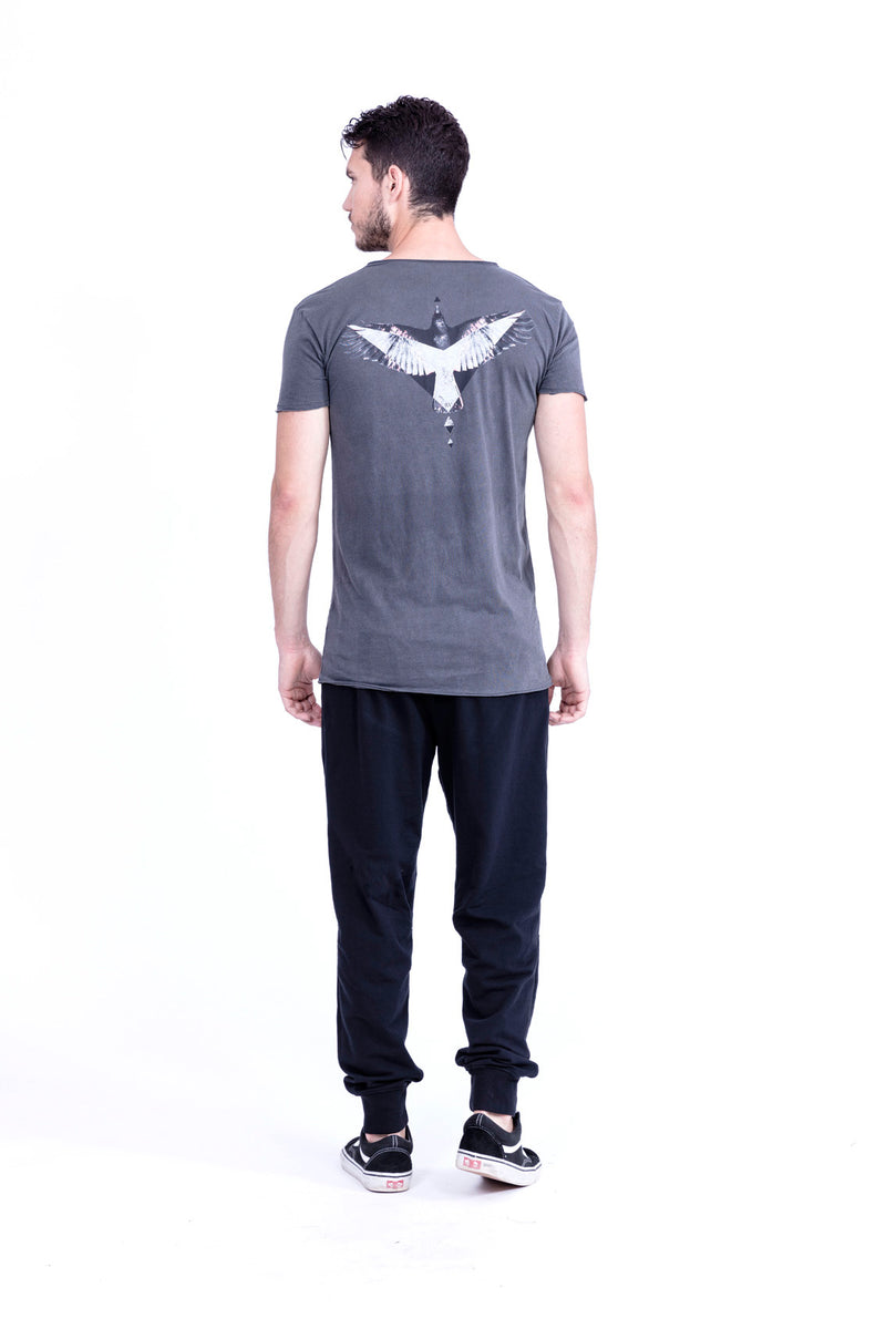 Raven - Raven - V Neck - Tshirt - Cut Off - with pocket - Colour Antracite 1