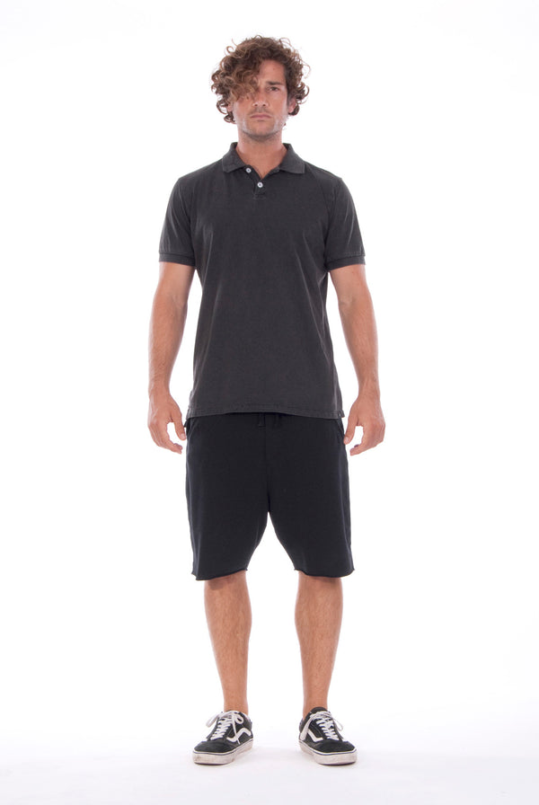 Polo - Colour Antracite and Short Pants - Colour Black - 1