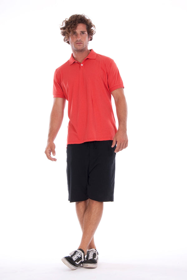 Polo - Colour Red and Short Pants - Colour Black - 1