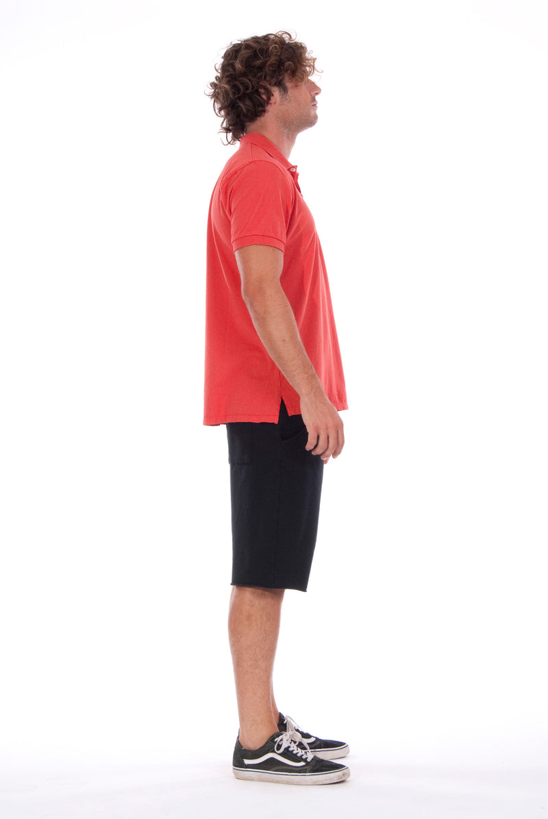 Polo - Colour Red and Short Pants - Colour Black - 3