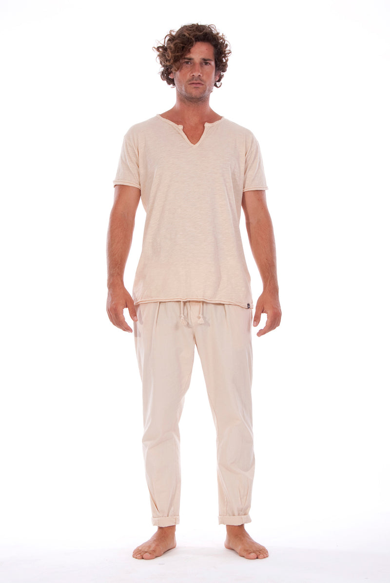 Milano Pants - Trousers and eros tee sand