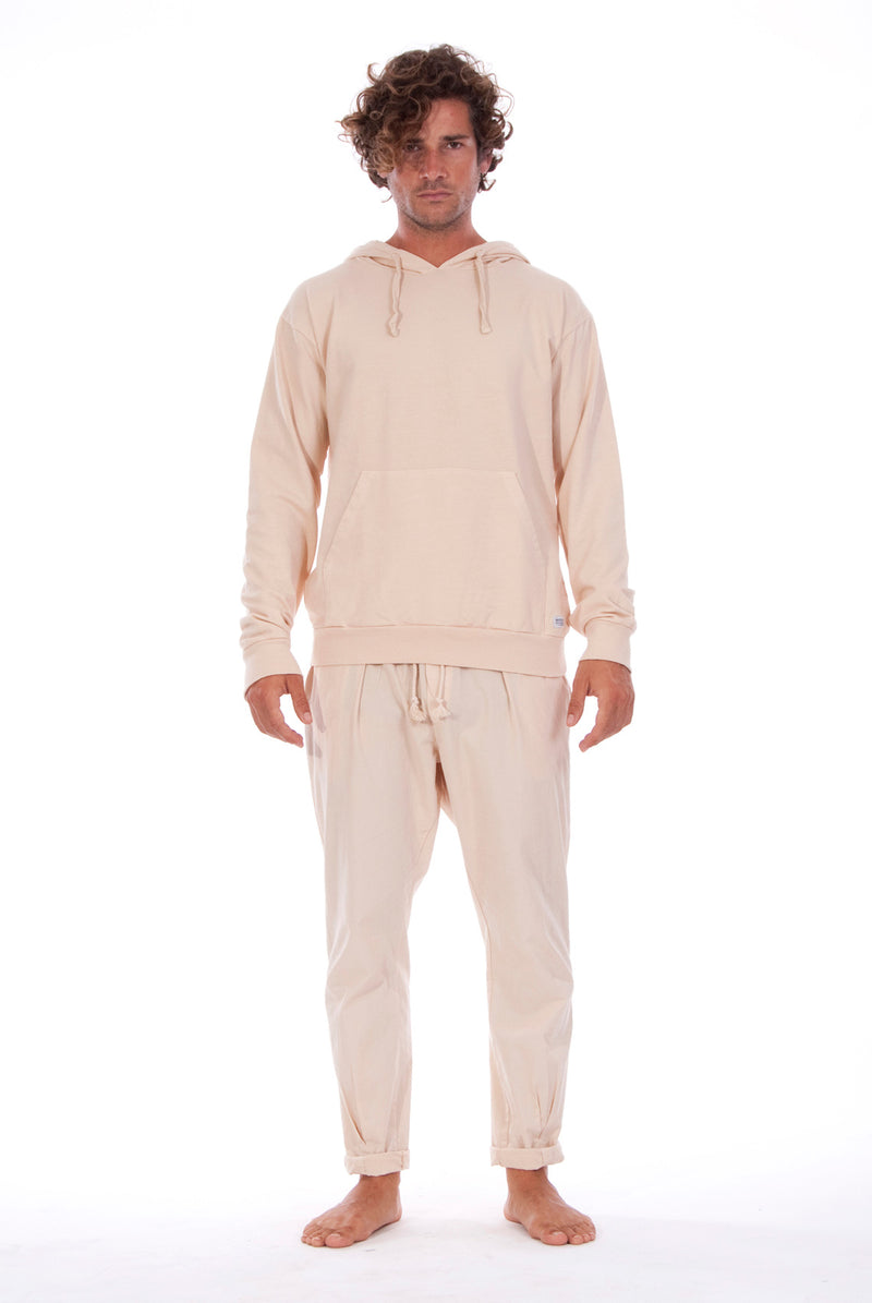 Milano Pants - Trousers - Colour Sand and Iibiza hoodie - Colour Sand - 1