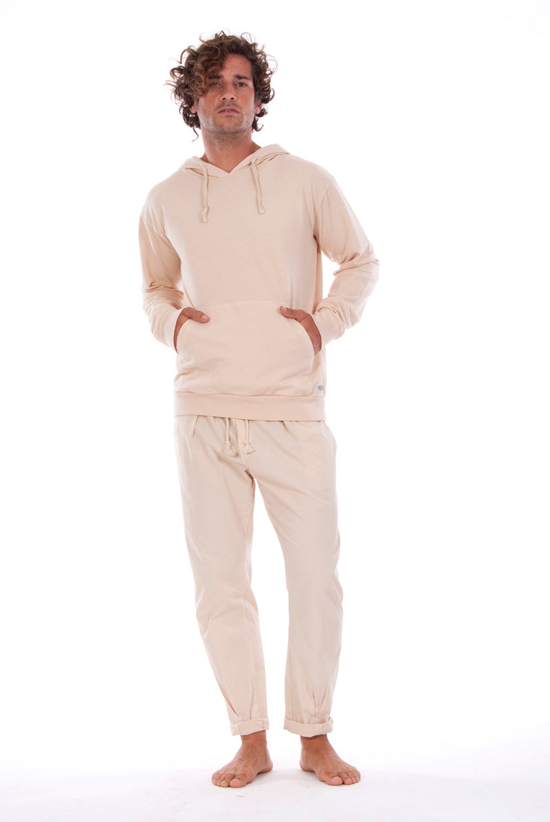 Ibiza - Hoodie - Colour Sand and Milano Pants - Colour Sand 1
