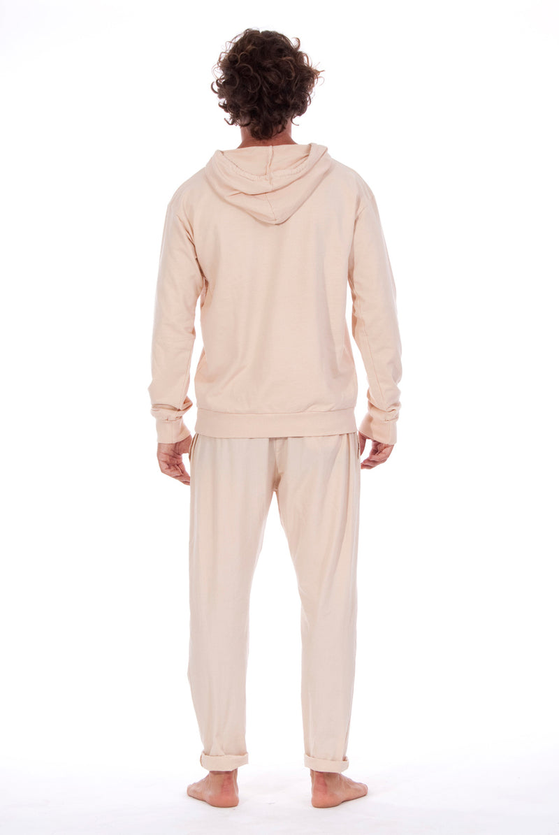 Milano Pants - Trousers - Colour Sand and Iibiza hoodie - Colour Sand - 3