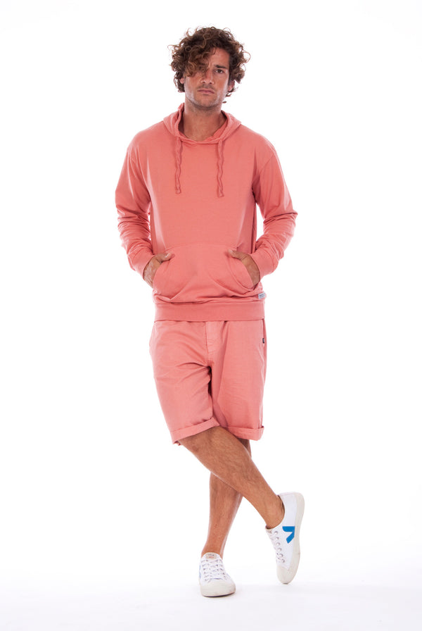 Ibiza - Hoodie - Colour Clay and Raven Shorts - Colour Clay 1