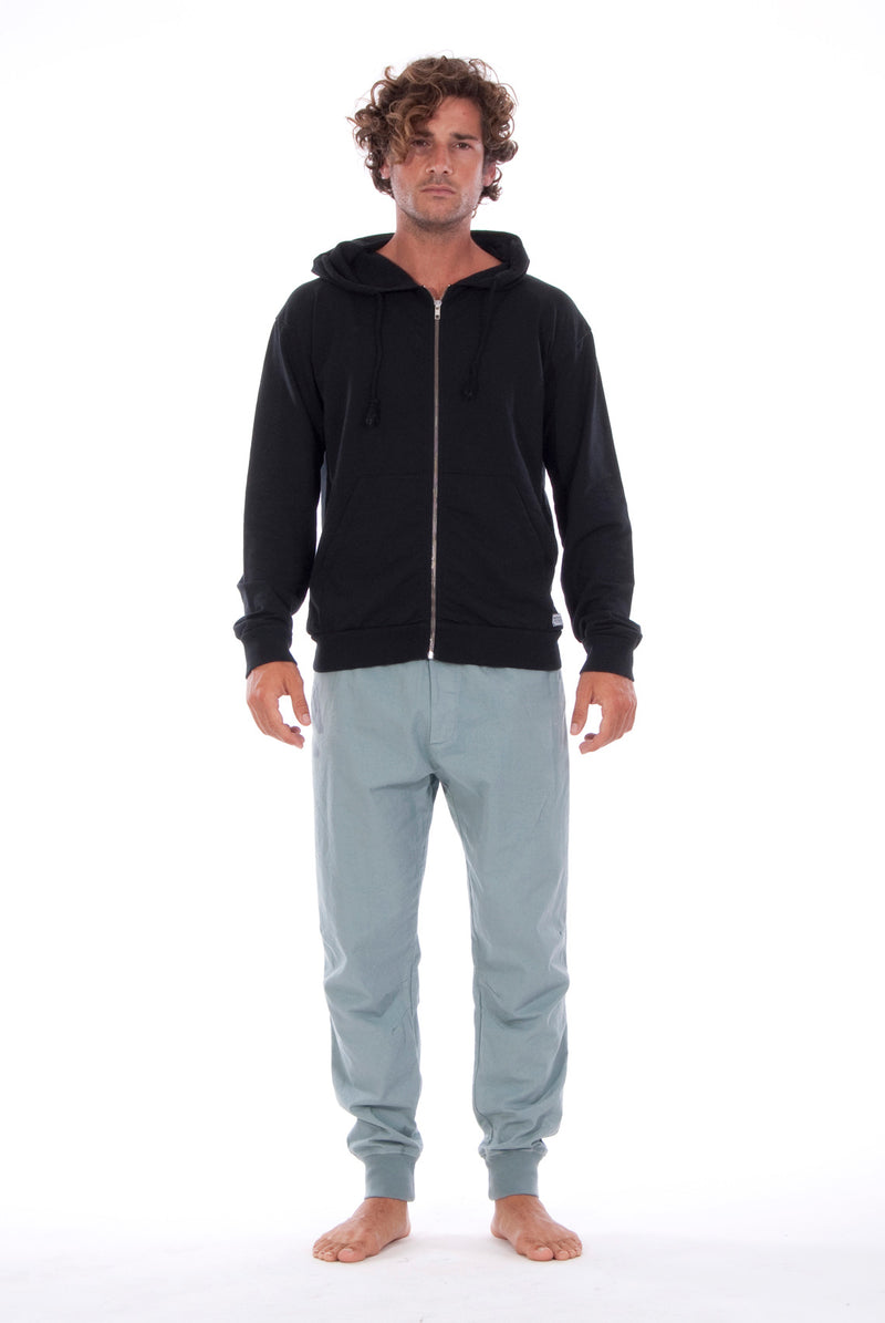 Zip Ibiza - Hoodie - Colour Black and Tokyo Pants - Colour Green 1