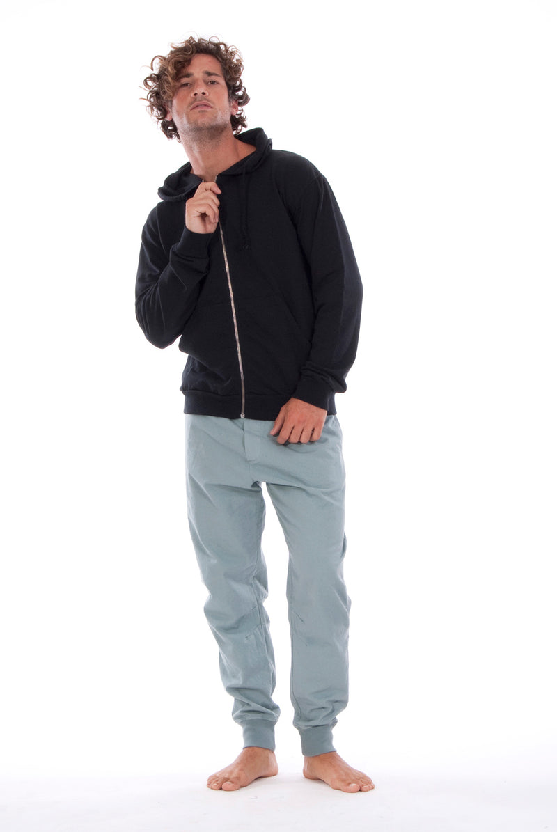 Zip Ibiza - Hoodie - Colour Black and Tokyo Pants - Colour Green 5