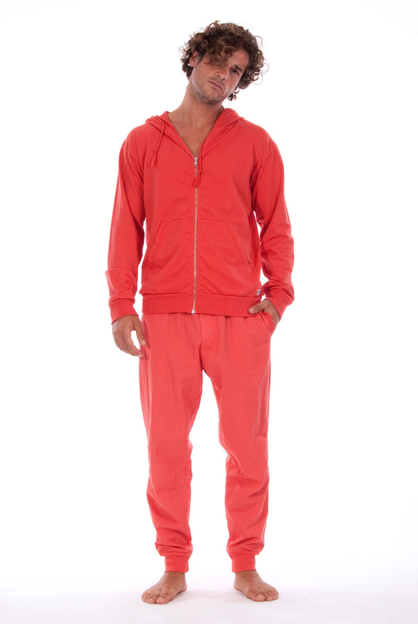 Zip Ibiza - Hoodie - Colour Red and Tokyo Pants - Colour Red 1