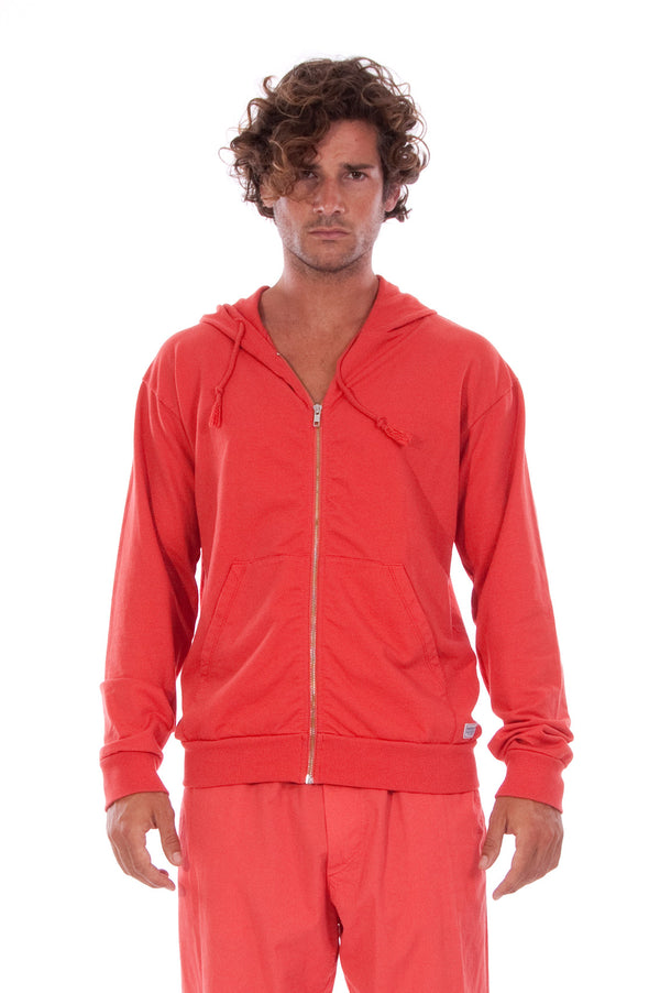 Zip Ibiza - Hoodie - Colour Red and Tokyo Pants - Colour Red 2