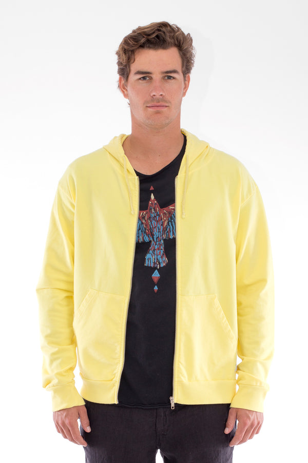 Zip Ibiza - Hoodie - Colour Yellow and Capri Shorts - Colour Black 2