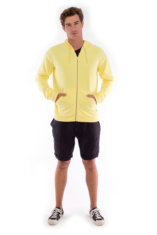 Zip Ibiza - Hoodie - Colour Yellow and Capri Shorts - Colour Black 1