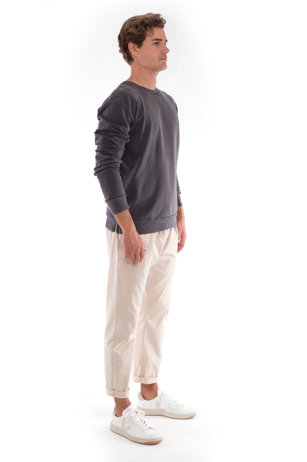 Salinas - Sweatshirt - Colour Anthracite and Monaco Pants - Colour Sand 1