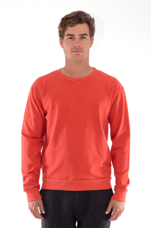 Salinas - Sweatshirt - Colour terracotta and Capri shorts - Colour Black 2