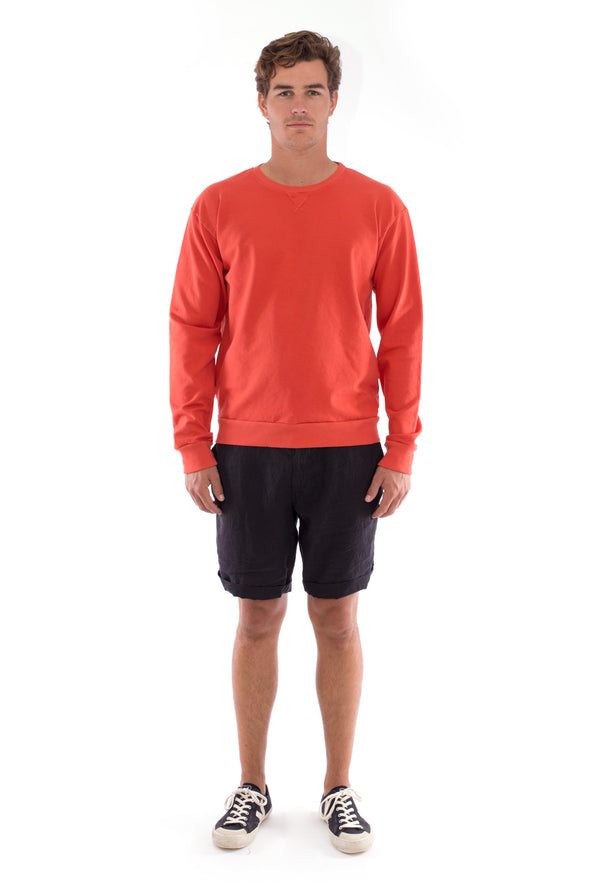 Salinas - Sweatshirt - Colour terracotta and Capri shorts - Colour Black 1
