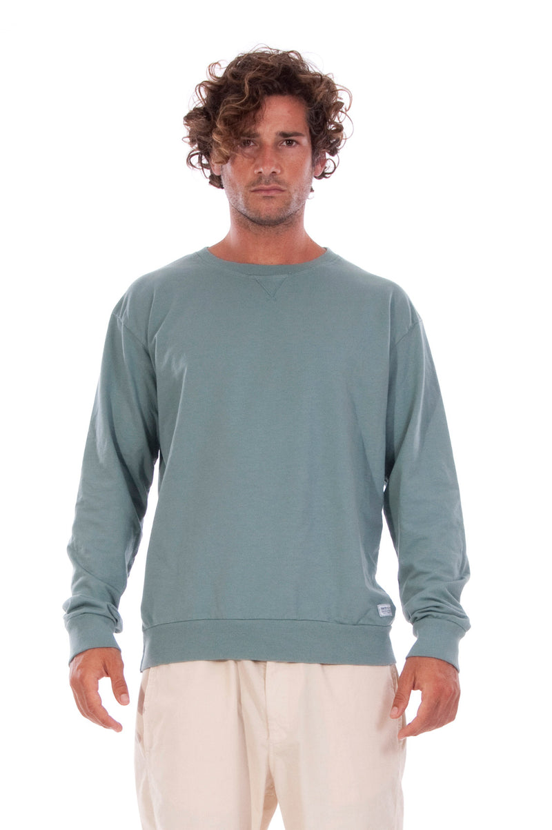 Salinas - Sweatshirt - Colour Green and Raven shorts - Colour Sand - 2