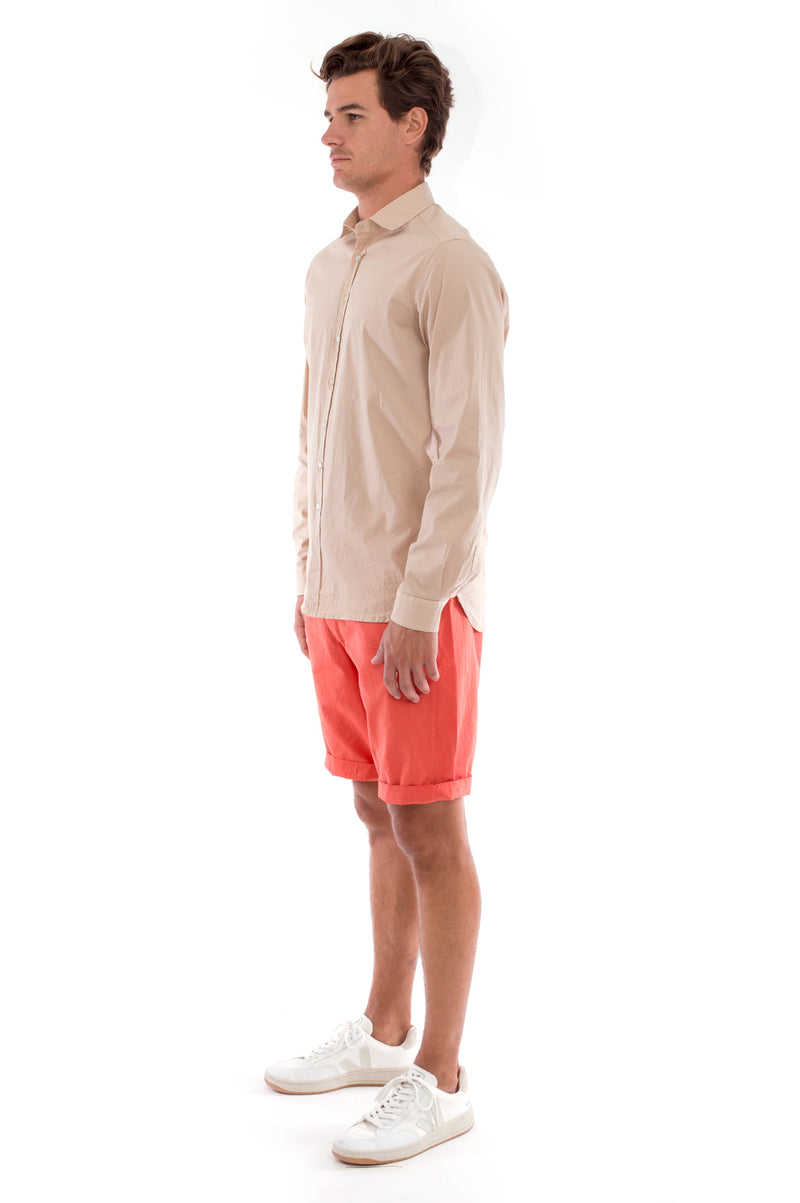 Phoenix - Shirt - Slim Fit - Colour Sand and Raven Shorts - Colour Terracotta 3