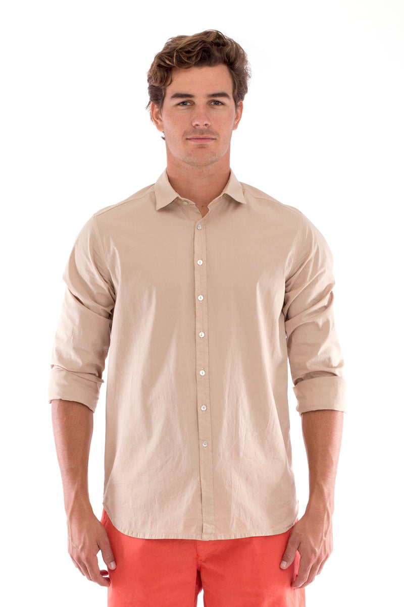 Phoenix - Shirt - Slim Fit - Colour Sand and Raven Shorts - Colour Terracotta 2