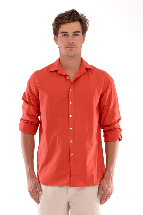 Phoenix - Shirt - Slim Fit - Colour Terracotta and Raven Shorts - Colour Sand 2
