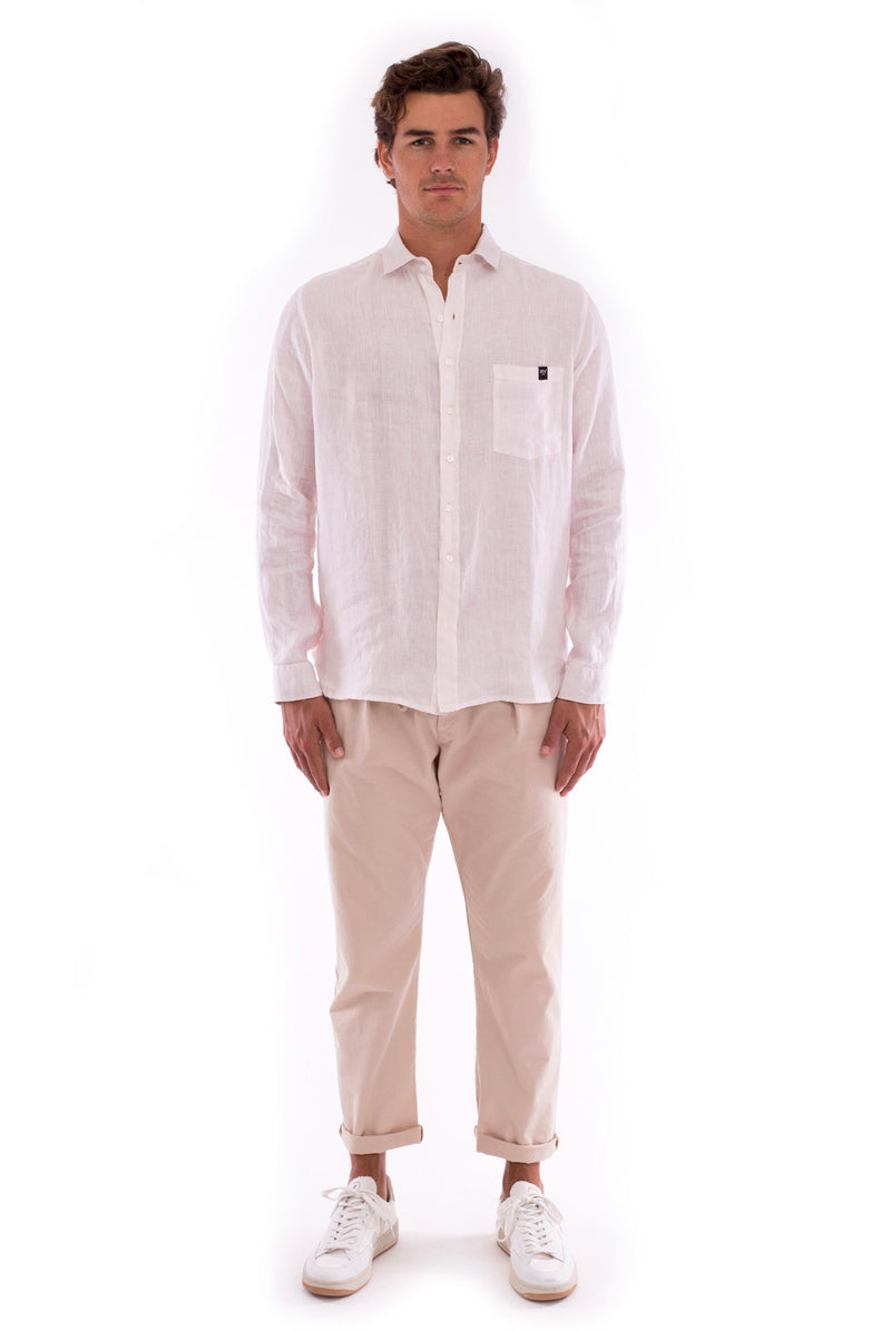 James - Shirt - Colour Rose and Monaco Pants - Colour Sand 5